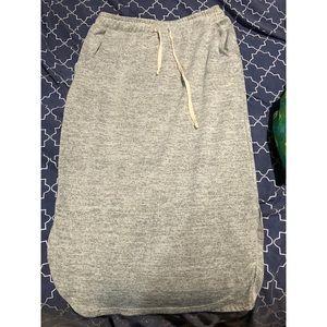 Tshirt material skirt
